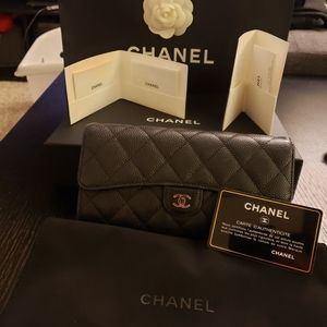 Chanel L- Gusset Flap Wallet